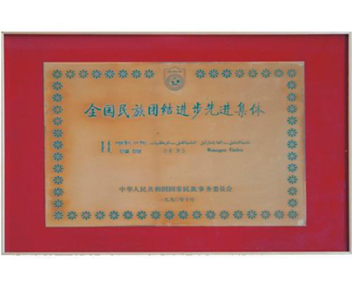 全國民族團結先(xian)進集(ji)體